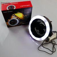 Multifunzione Viaggi di Campeggio Lanterna 2 in 1 Esterno Portatile USB LED Fan Luce Lampada Tenda Con Gancio