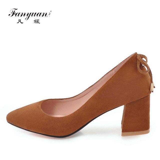 30ec994ee Fanyuan Tamanho Grande 33-45 Elegante Borla Meninas Fantasia Sapatos dedo  Apontado sapato de salto