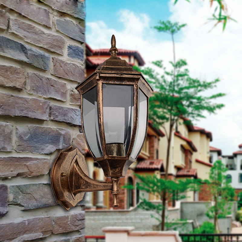 waterproof aluminium die casting porch light outdoor wall lamp never rust cottage antique garden yard antique courtyard outdoor lighting 1