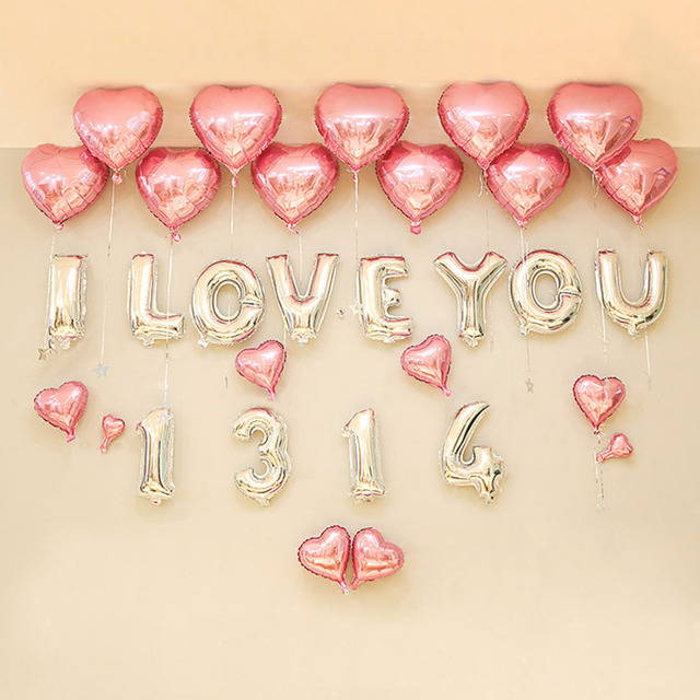 16 Inch Foil Letter Balloons Party Decoration Happy Wedding Baby Shower  Balloons Anniversary Decoration Gold Silver