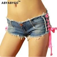 Hot Shorts Summer Style Hot Denim Shorts Women Sexy Nightclubs Shorts Side Bandage Denim Shorts Jeans