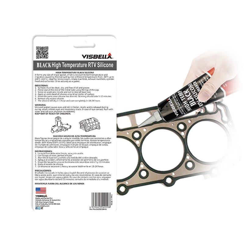 VISBELLA 2 шт. Нейтральный RTV прокладочный герметик 85 г высокотемпературный силикон резиновый влагостойкий клей наполнители клей-герметик