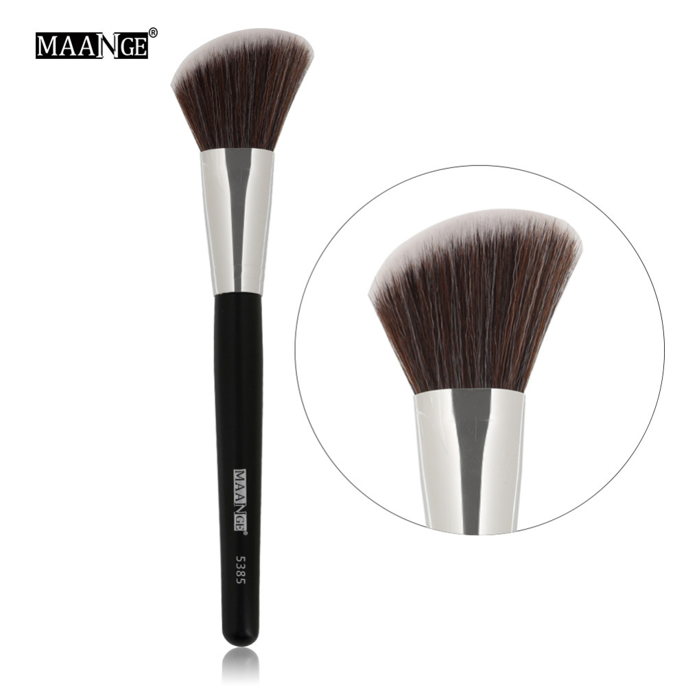 MAANGE 1pc Makeup Angled Round Top Brush Foundation Powder Contour Concealer Blush Blusher Blending Brush Cosmetic Beauty Tool top quality foundation brush angled makeup brush