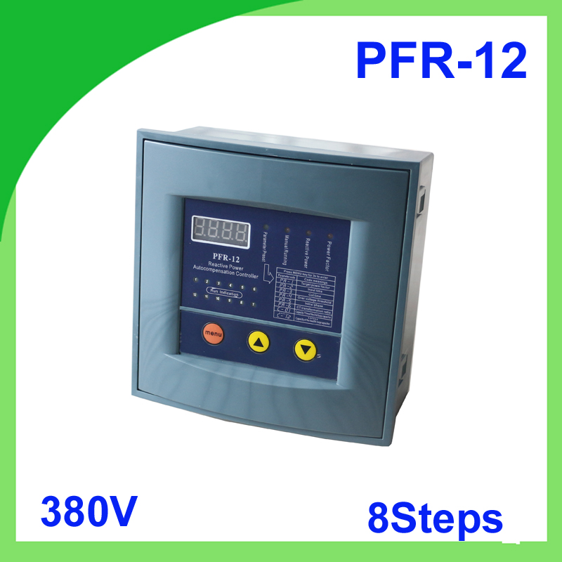 JKW58 PFR-12 power factor 380v 8steps 50/60Hz Reactive power automatic compensation controller capacitor for 50/60HZ jkw5c 6 reactive power compensation controller for power factor capacitor 6steps 380v cos power