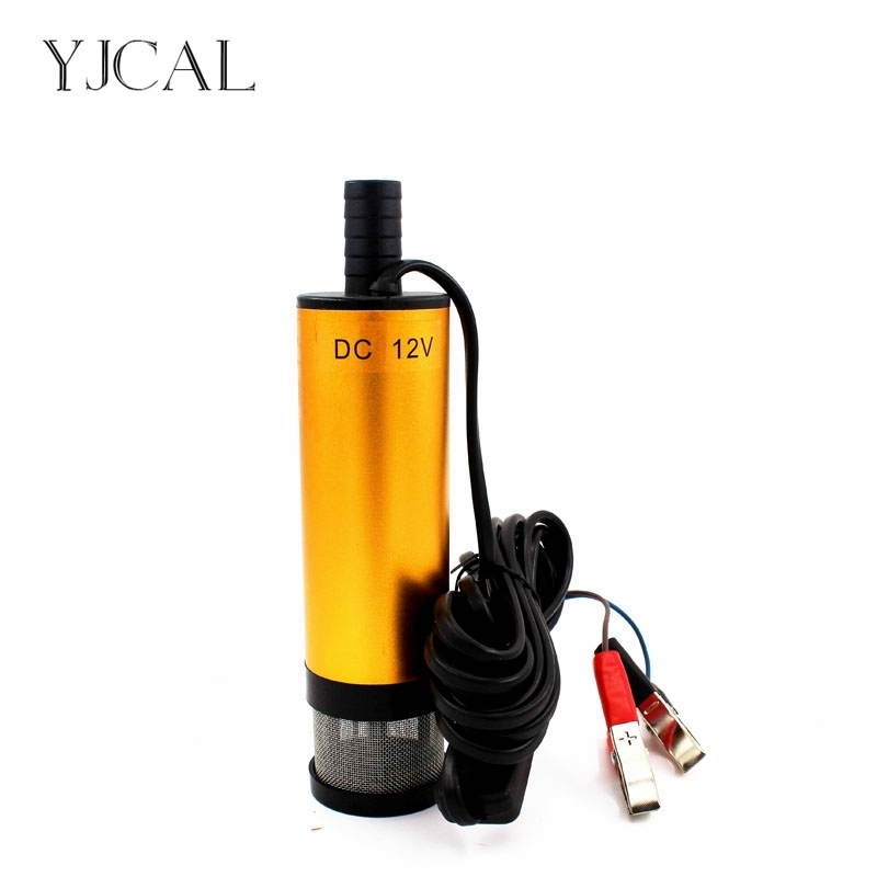 Aluminium Alloy Water Oil Pump DC 12V 24V Electric Fuel Transfer 30L/Min Submersible Diesel Suction With Removable Net 51mm dc 12v water oil diesel fuel transfer pump submersible pump scar camping fishing submersible switch stainless steel