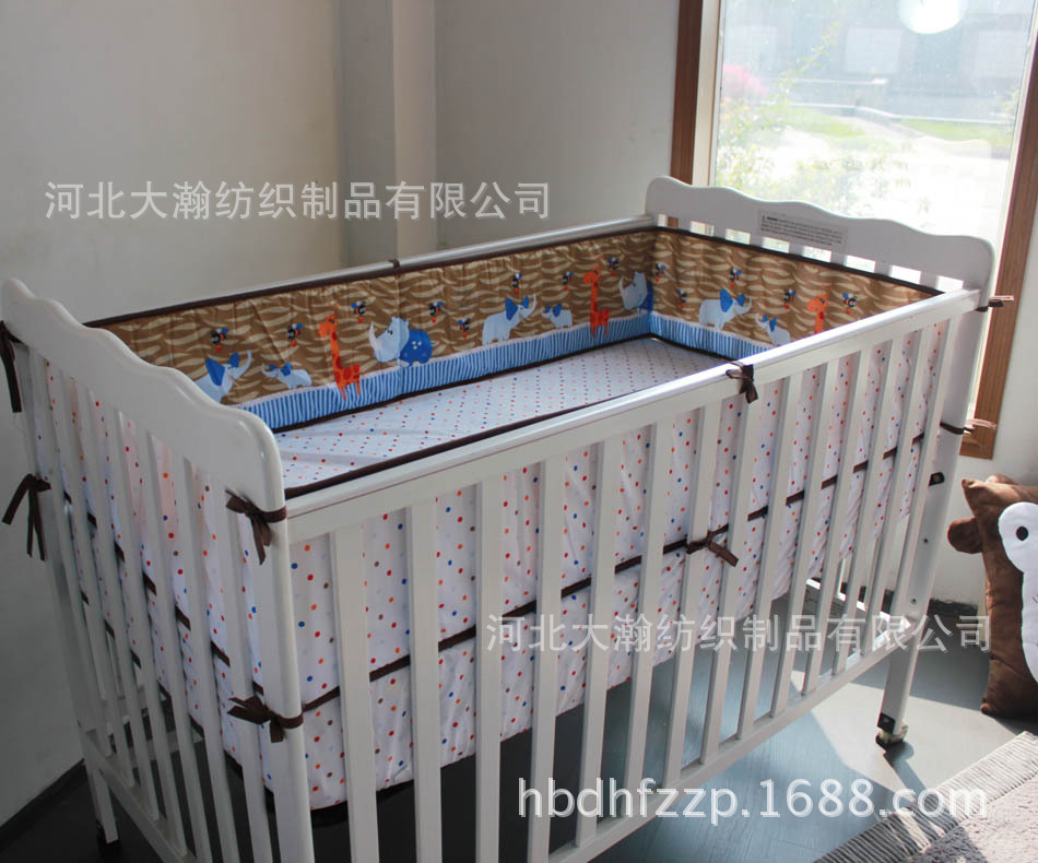 Promotion! 3PCS Baby bedding set character crib bedding set 100% cotton baby bedclothes (bumper+duvet+bed cover)