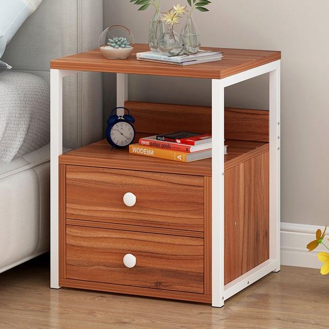North European Nightstand simple Mini Storage Cabinet Bedroom ...
