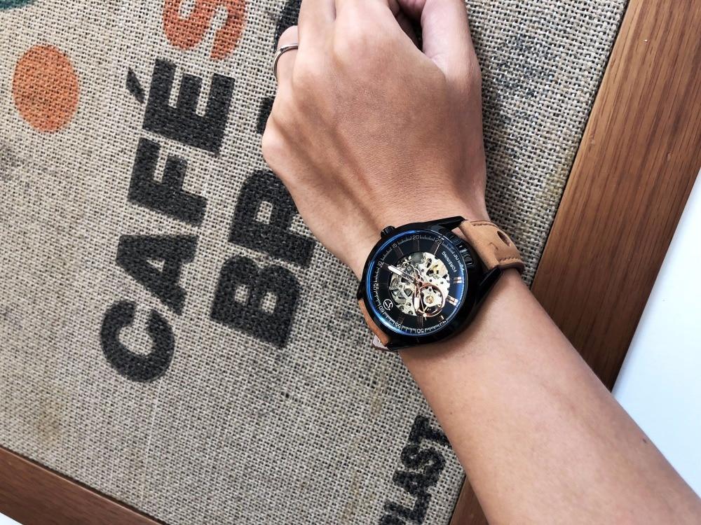 HTB118IIe138SeJjSZFPq6A vFXa6 Forsining 2017 Mens Casual Sport Watch Genuine Leather Top Brand Luxury Army Military Automatic Men's Wrist Watch Skeleton Clock