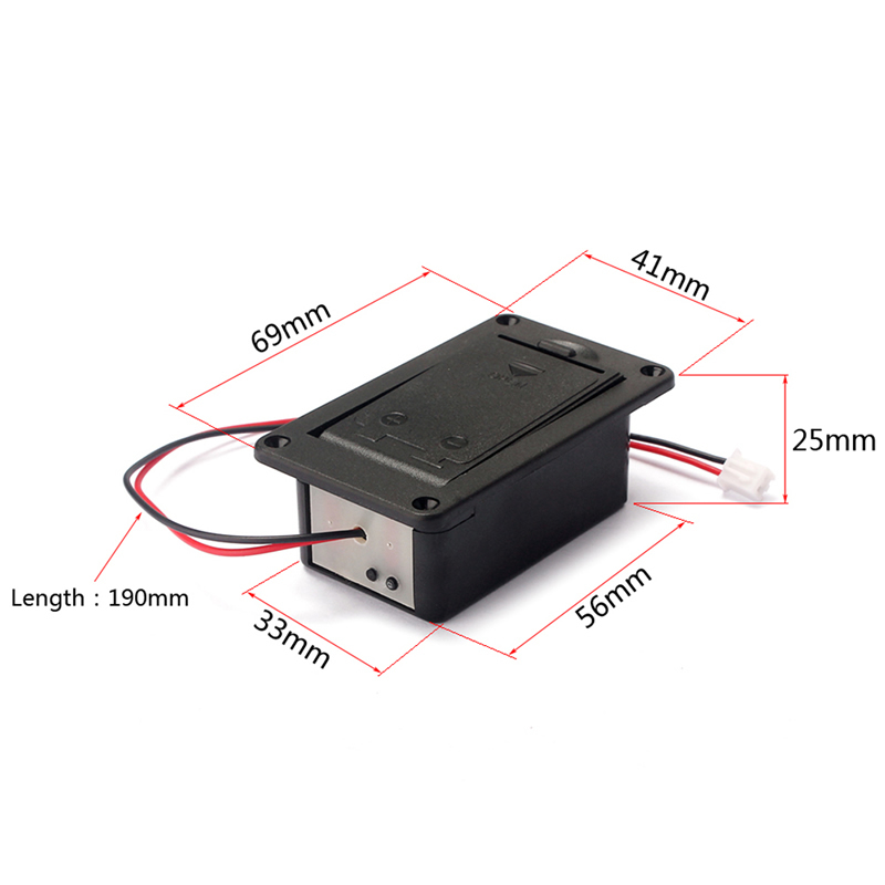 1PC 9V Battery Holder Case Box Cover For Guitar Bass Active Pickup Connector Drop Shipping Support