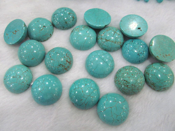 High Quality 162025mm Turquoise Cabochon Round Stacking Ring