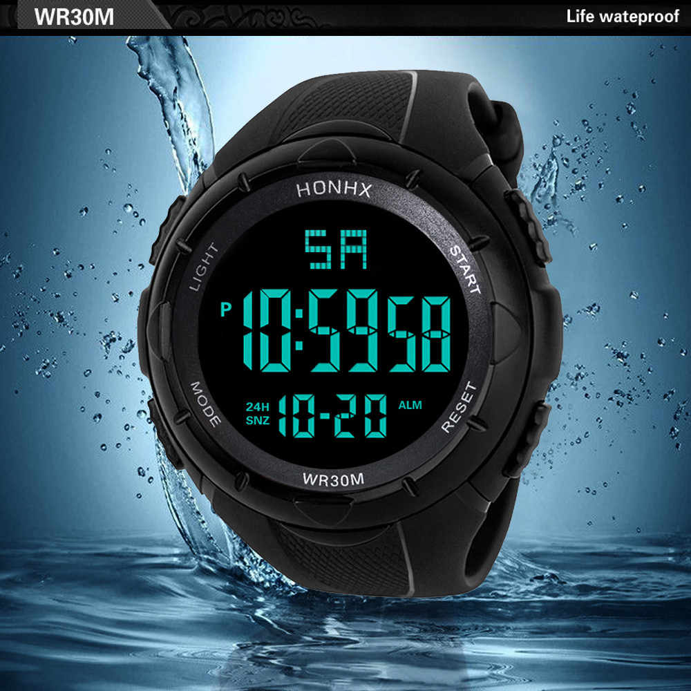 דיגיטלי שעון גברים נשים Relogio ספורט Mens LED הדיגיטלי מעורר תאריך Waterproof ספורט צבא קוורץ שעון 2019