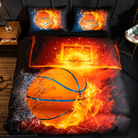 Future Life Bedding 2019 New Style A series of Basketball fire Silk Duvet Cover Set Four Seasons General Home Textile Comfortabl