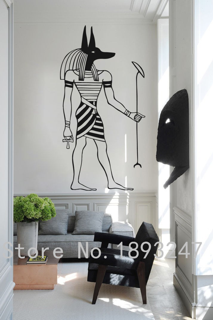 ᐃFree Shipping Egypt Vinyl Wall Decal Egyptian God Anubis Protector ...