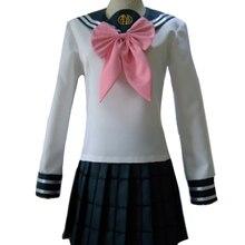 Аниме Dangan Ronpa Danganronpa Sayaka Maizono форменная куртка юбка розовый галстук костюмы для косплея на Хэллоуин