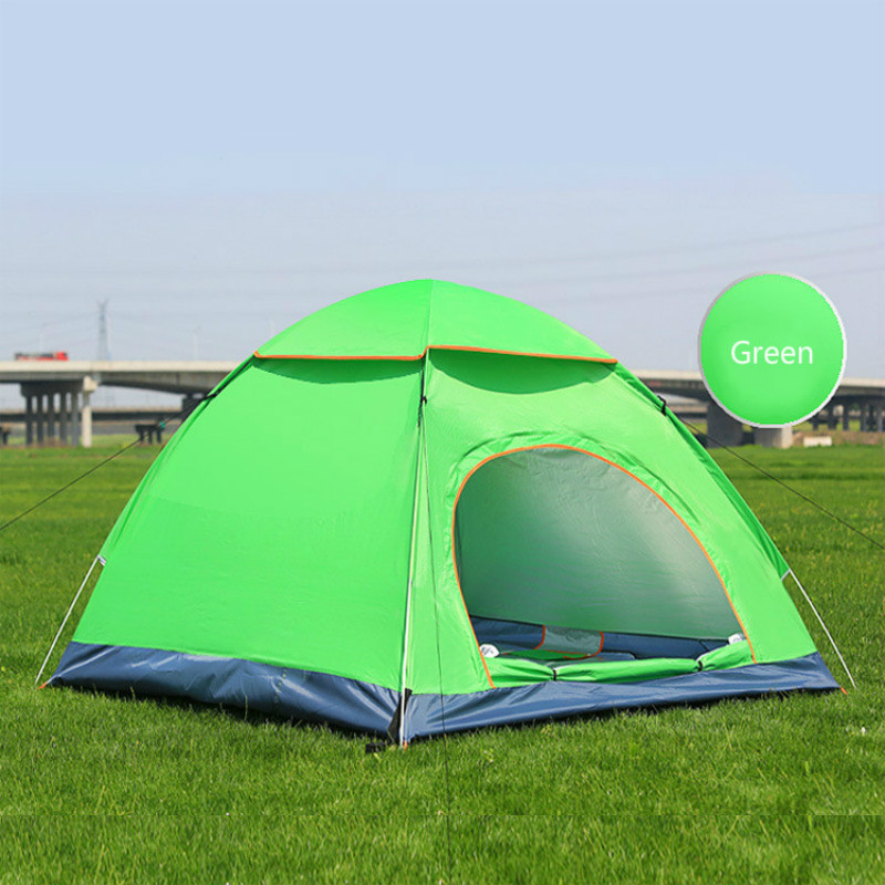 Throw Tent Outdoor 3-4 Persons Automatic Speed Open Throwing Pop Up Windproof Waterproof Family Beach Camping Tent Large Space недорго, оригинальная цена
