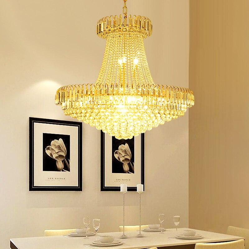 Modern simplere restaurant lamp Gold Led lustre chandelier ...