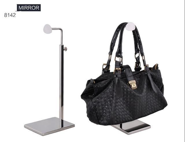 Bn 8142 Stainless Steel Metal Mirror Surface Handbag Rack Display