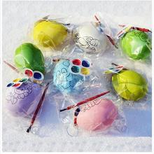 Egg Painting with pigment arts crafts Fun for Kids development intelligence Easter decoration gift toys favor Children's Day
