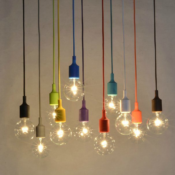 Greatest Clustered Cord Pendant Light Silicone Muuto rope lamp Art deco  BJ36