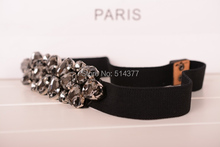 Elegant Belts with Rhinestone Decoration