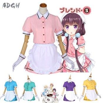 Drop Ship Anime Blend S Sakuranomiya Maika Cosplay Costume Lolita Girls Maid Apron Dress Uniform Suit Outfit Clothes