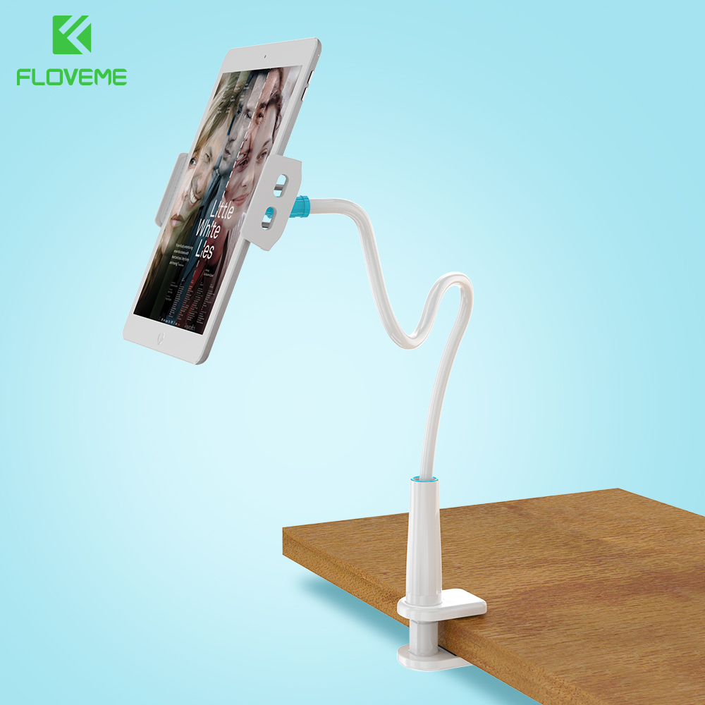 FLOVEME 80cm Long Arm Adjustable Bracket Phone Holder For iPhone 7 6 6S Plus iPad For Samsung S8 Plus S7 S6 Edge Stand Tablet