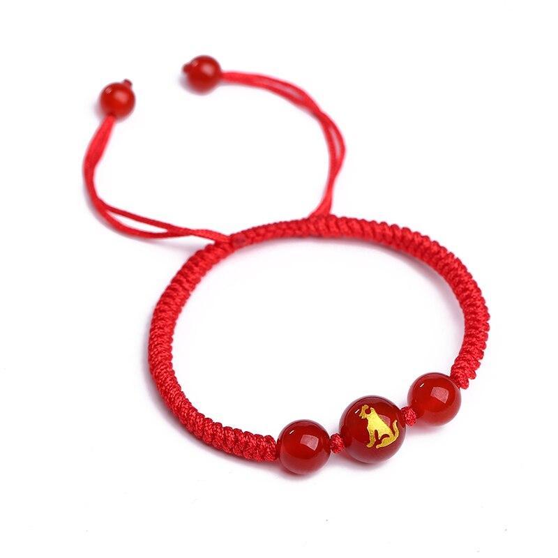 80f0457a7d64 Envío Gratis joyería de moda elástico cuentas de Chip de tejido rojo pulsera  de granate Natural