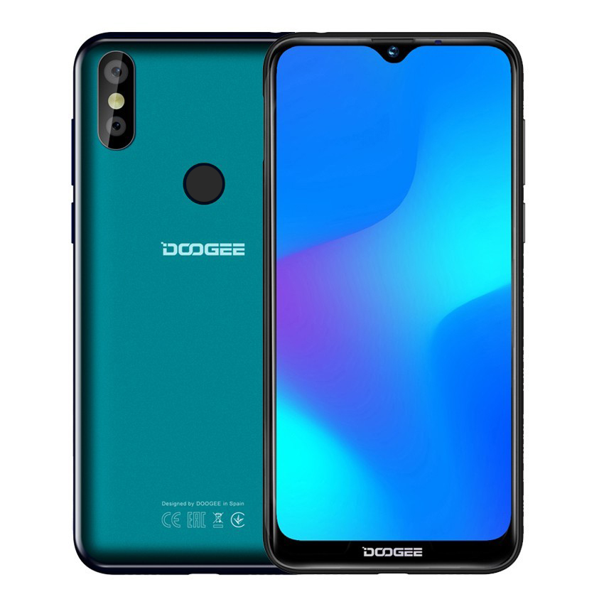 "DOOGEE Y8 4G cell phone Android 9.0 Face Fingerprint ID 6.1"" HD 3400mAh MT6739 Quad-Core 3GB RAM 16GB ROM 8MP+8MP Mobile Phone"