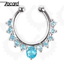 Fake Nose Rings for Women Lady 2016 New Arrival Alloy Nose Hoop Body Piercing Jewelry Septum Piercing Beautiful Girls