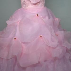 Image 5 - 3 色利用可能な 2018 韓国風スウィートプリンセスのウェディングドレス大サイズ赤、白、ピンクレトロ蓮花嫁のウェディングドレス