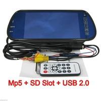 Free Shopping HD 800 480pixesl 7 Inch LCD Carro De Cor Retrovisor Espelho Reverso Mp5 Player