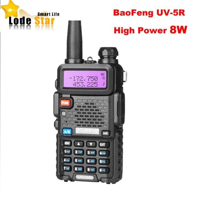 New BaoFeng UV 5R 8W Portable Two Way Radio Upgrade UV 5R Dual Band 128CH Pofung Walkie Talkie Ham CB Transceiver Communicator
