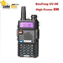 Nuovo BaoFeng UV 5R 8W Portatile A Due Vie Radio Aggiornamento UV 5R Dual Band 128CH Pofung Walkie Talkie Prosciutto CB ricetrasmettitore Communicator