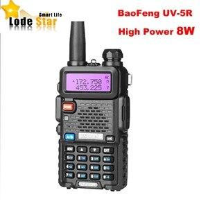 Image 1 - 新baofeng UV 5R 8 ワットポータブル双方向ラジオアップグレードuv 5Rデュアルバンド 128CH pofungトランシーバーアマチュア無線cbトランシーバcommunicator