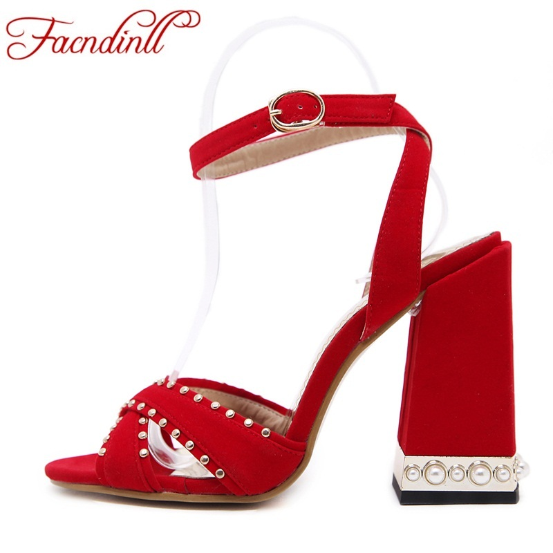 Big size 40 gladiator sandals women summer shoes sexy open toe rivets dress shoes woman high heels sandals platform summer style summer rhinestone thick heels women sandals shoes sexy open toe wedge shoes woman high heels sandals platform