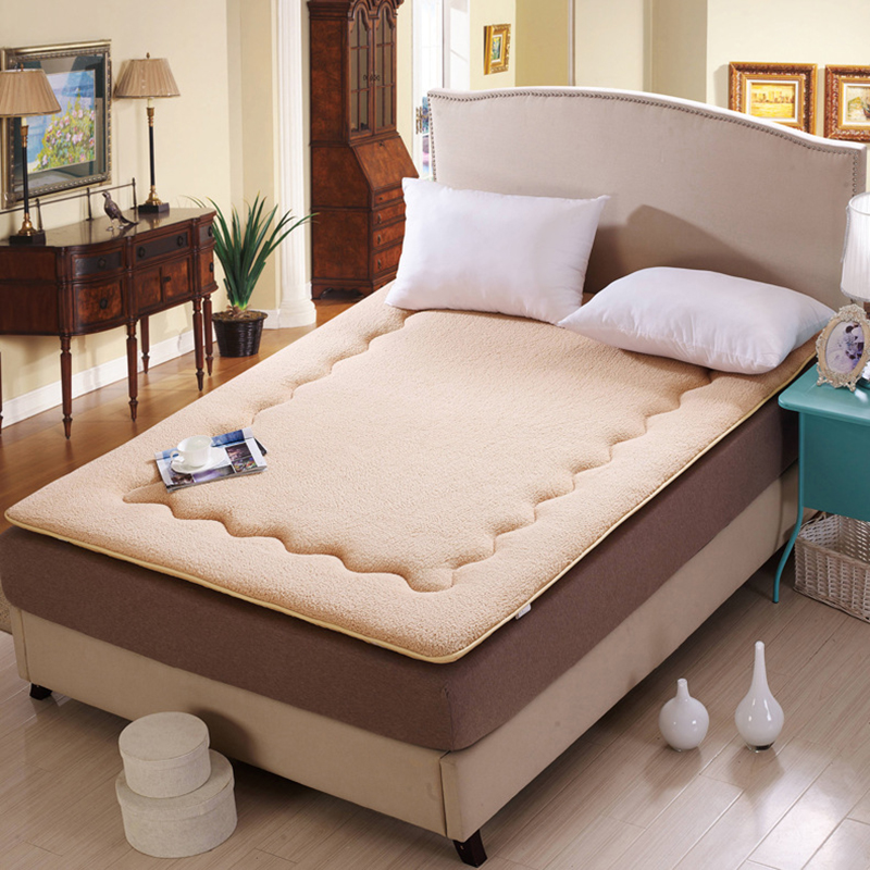 Thick Warm Foldable Single Or Double Student Mattress Fashion NEW Topper Quilted Bed Sherpa