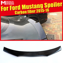 For Ford Mustang Coupe Rear Spoiler B-Style High-quality Carbon Fiber Rear Trunk Spoiler Wing Lip car styling Accessories 15-16 voe mustang carbon fiber gloss black car styling rear trunk wing spoiler for ford mustang 2015 2016 2017