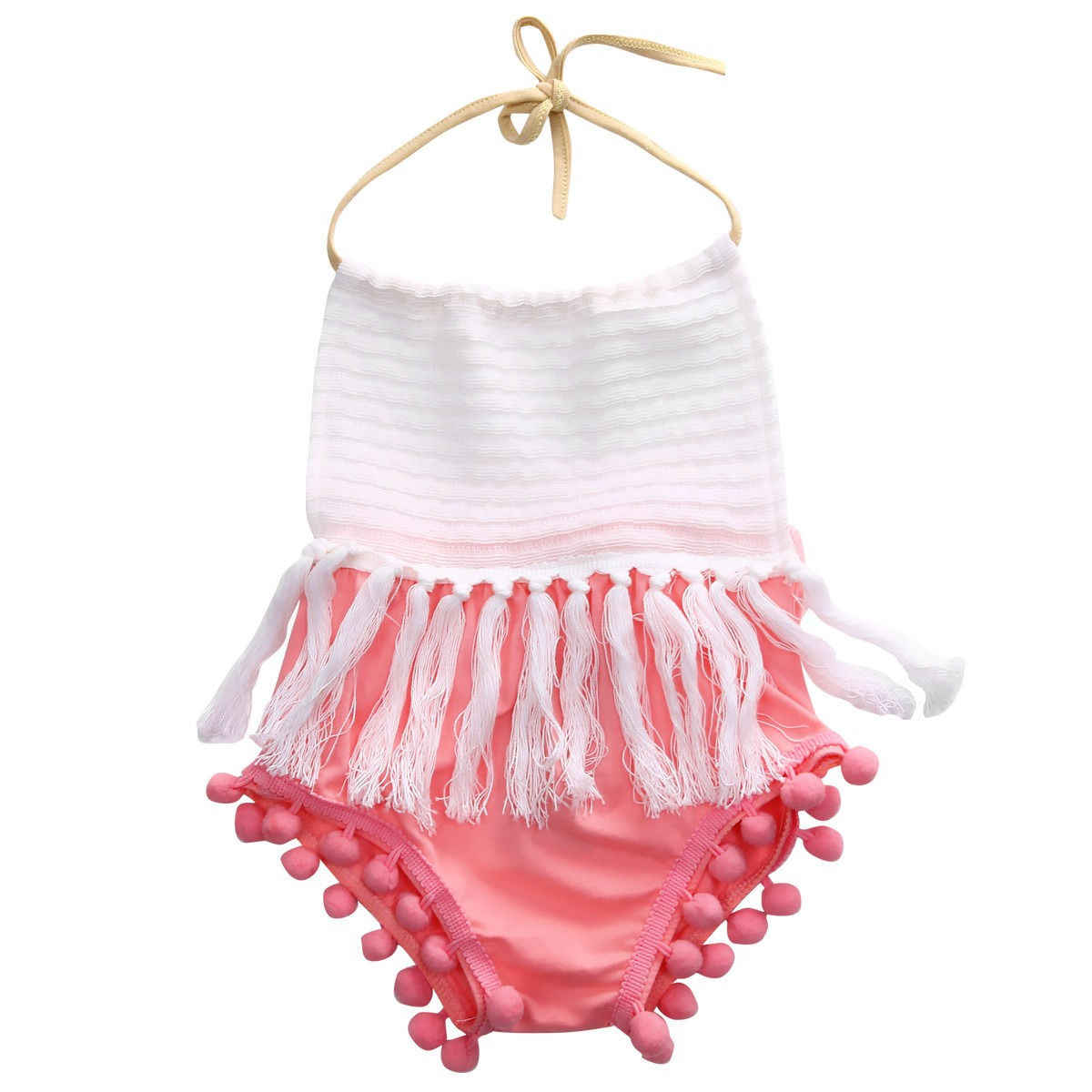 51b4b10a641 Newborn Toddler Infantil Baby Girls Clothes Tassels Fashion Romper Cute  Jumpsuit Sleeveless Outfits 0-24M