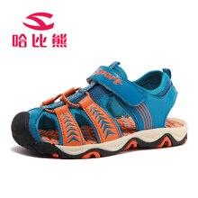 HOBIBEAR New 2017 Children Sandals Boy Fashion Casual Shoes Non Slip Breatherable Rubber Flats kids Beach Shoes KS11