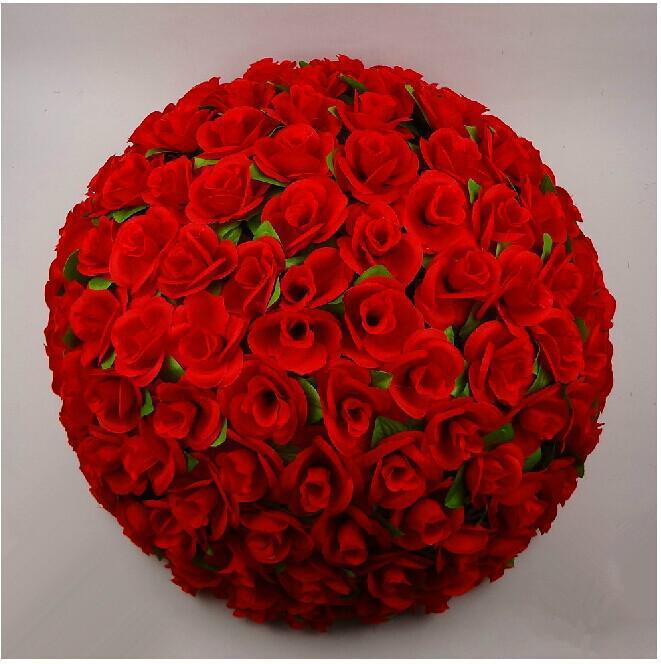 "cm/"" new artificial silk flower rose kissing ball super large, Beautiful flower"