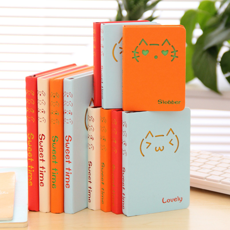 Hot school notebook paper Mini Notebook Cute Personal Diary Notepad Office School Supplies notebooks Gift diary with lock cagie cute diary cloth cover a7 mini notebook lined pages paper notebooks personal journal beautiful notepad
