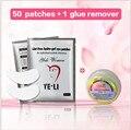 50 + 1 pcs макияж ресницы инструменты наращивание ресниц клей для снятия нет раздражения для наращивание ресниц инструмент ресниц патчи комплект