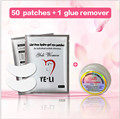 50+1 pcs makeup eyelashes tools lash extension glue remover no irritation for eyelash extensions tool eye lashes patches kit