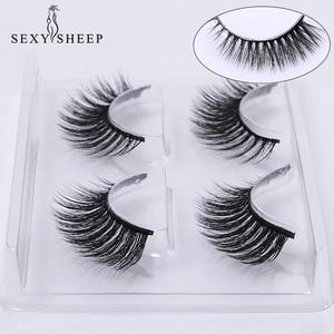 Image 2 - SEXYSHEEP 2 pairs natural false eyelashes fake lashes makeup kit 3D Mink Lashes eyelash extension mink eyelashes maquiagem