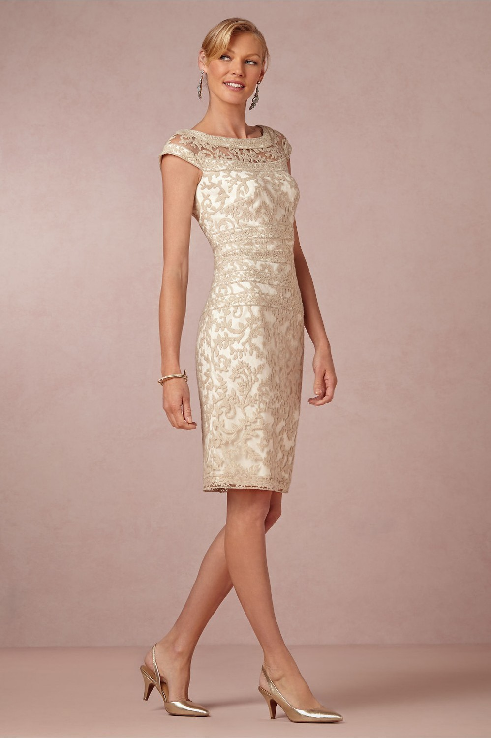 Best Ing 2016 Sheath Mother Of Bride Dresses Scoop Sleeveless Zipper Knee Length The Lace In
