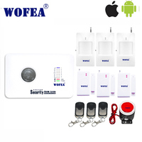 Free Shipping IOS Android App Control 99 Wireless 2 Wired Zone Home Security Gsm Alarm