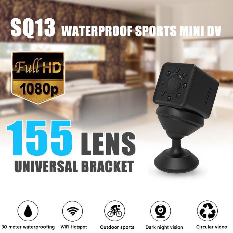 16 GB carte + SQ13 Mini HD 1080 P WiFi Micro caméra DVR lentille enregistreur 2 K Vision nocturne