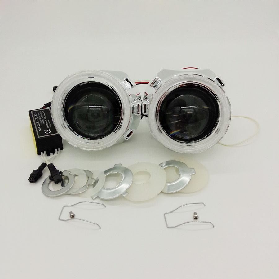 2 5 inch Mini HID Bi xenon Projector Lens LHD RHD headlight with CCFL Angel eyes