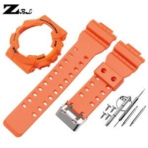 Image 5 - Silicone braccialetto di gomma per casio g shock GD GLS GA 100 110 120 Watch Band Convesso Della Cinghia del cinturino e cassa di Gomma cinturino di vigilanza