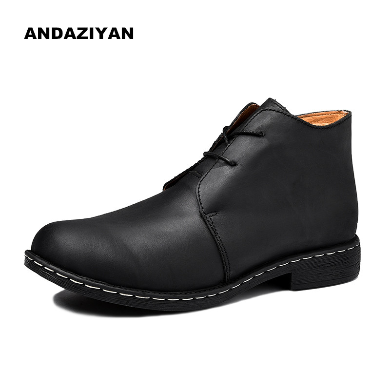Large size leather high to help men's casual shoes